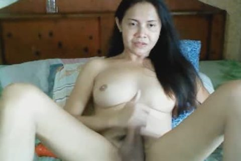 sexy asian ladyboy Swallows Own sperm