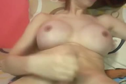 asian tgirl With perfect Round bazookas And Hard rod