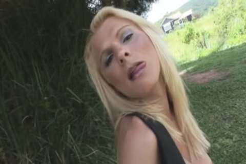 tgirl blonde Likes To Be In The Garden