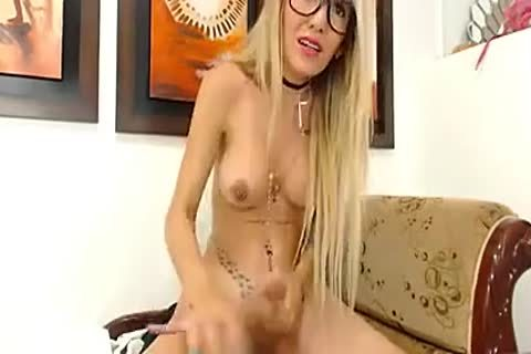German Tatooed sheboy In Glasses Shows What she is Made For