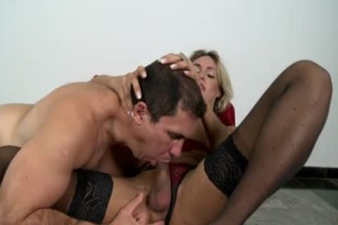 blond tranny Camyli Victoria acquires team-plowed