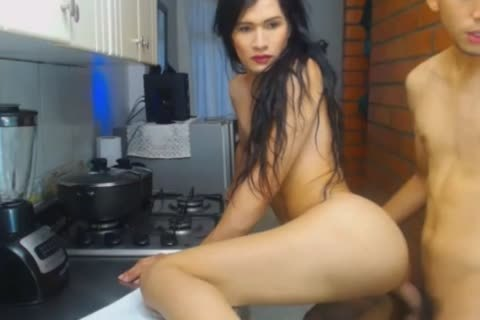 tight ladyboy acquires slammed In The Kitchen