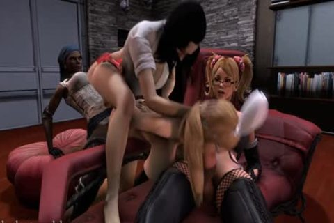 astonishing 3D Futanari FuckFest