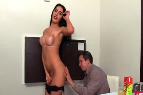 pretty lady-man Mariana Lins Takes 2 ramrods In Her ass