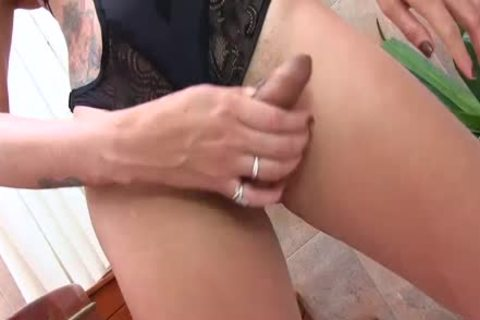 ladyboy Bella Atrix bonks butt With sex tool whilst Hard