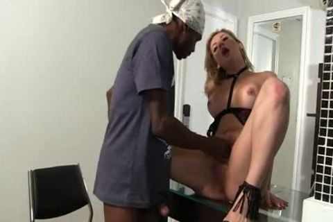 lustful ladyman Luana Pacheco Sucks A black dick And Has Her arsehole Licked