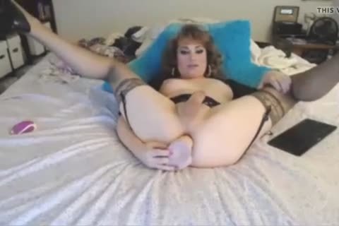 Cutey Rides That biggest dildo To sperm Town