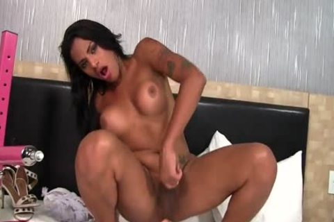 Aroused ladyboy Alexia Rios Is plowed In Her wazoo By A banging Machine