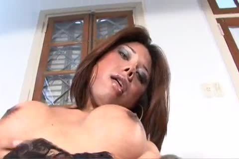 latina Ladyboy Swallows cum After A Hard group-sex