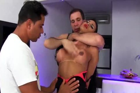 Two Thugs Have Their Way With Sultry tranny Erika Lee