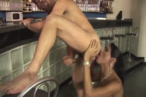 lad Gettin Dominated By pretty biggest penis Trans gal