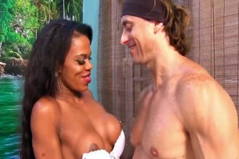 ebon sheboy Lavinia Magalhaes And A Whate twink bang Each Other Up The butthole