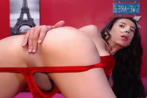 Bigass Twerking ladyboy Jerking Her Hard dick