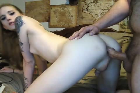 Tattooed Redhead Femboy receives poked By Daddy