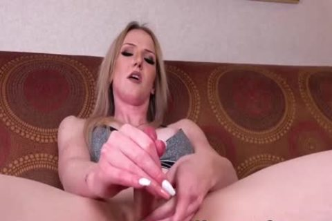 Trans blond Kayleigh Coxx widens butthole With dildo