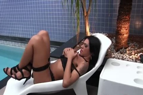 lady-man Mylla Pereira Plays With Herself And hammers Her pooper With A Cucumber
