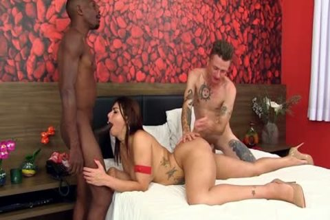 ramrod Hungry shelady Fernanda Cristine Stuffs Her Phat wazoo With Two Hard penises