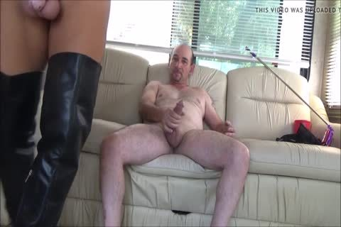 Stefani Boots ass In Chastity ,swallow cum