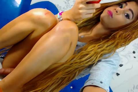 Blond Latin tranny Does Her dude Anally