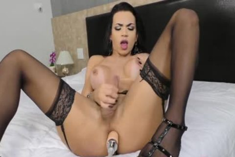 large anal Tbabe Bianca Reis Inserts A Machine fake penis unfathomable Inside Her butthole