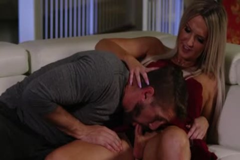 fine blond TS Kayleigh Coxx Trades blowjob With Wesley