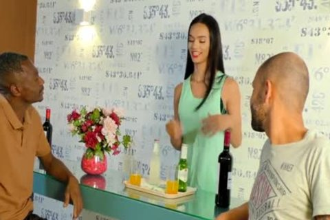 youthful TS Waitress Gabrielly Ferraz receives A raw Double anal