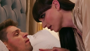 Trans Angels - Brown hair Natalie Mars cowgirl sex in the bed
