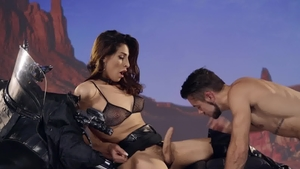 TransAngels.com: Inked & muscled Alexa Scout reverse cowgirl