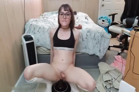 Claire Tenebrarum tiny ladyboy With gigantic sextoy