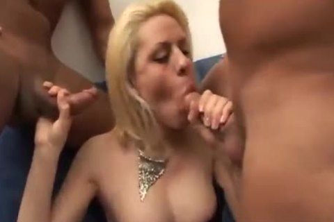 gmatureen-haired slut Serving Two knobs