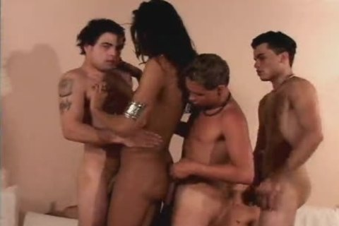 babe With A penis receives group plowed