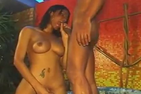 busty latin babe TS Takes Off vertical Prick & pokes