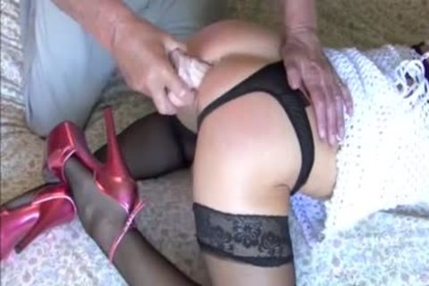 ribald old boy Gives shelady Kim's cute ass A sex ejaculated seeing To With massive toys