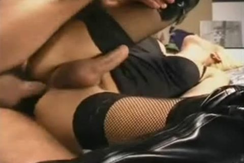 Titty gmatureen-haired shemale In dark stockings booty grouppokeed