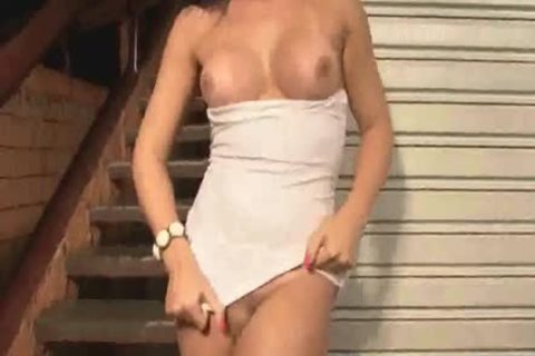 busty tranny Joy Spears Tugging On her inflexible cock