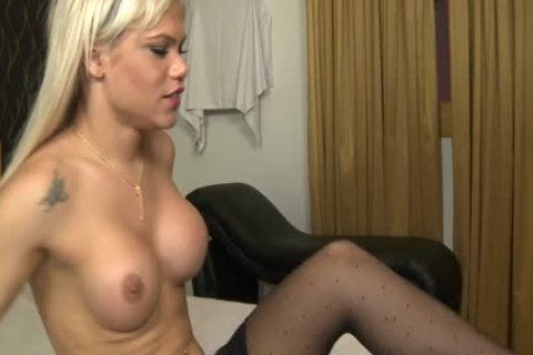 breasty blonde latin chick tgirl Getting Hard nailed.