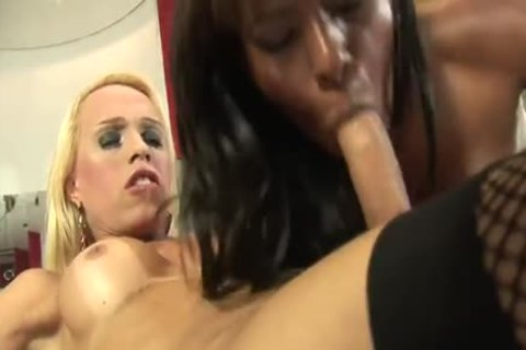 Interracial joy Of tranny And chick