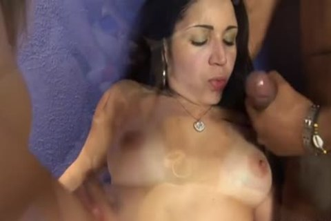 excited beauty Pleases A twink And A ladyman