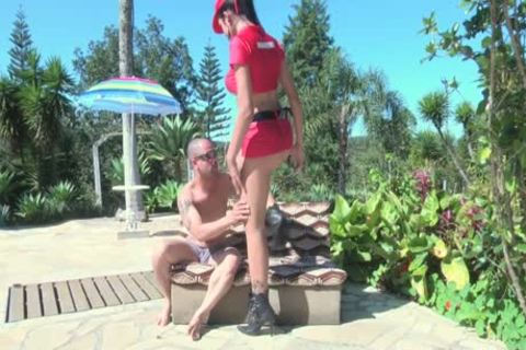 Brenda Lohan pokes A man outdoors